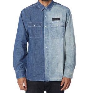 Image of TWO TONE SHIRT | DENIM