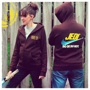 "Image of ""Brand Wars: Jedi"" - Espresso Brown hoody"