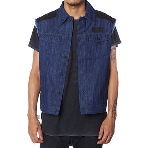 Image of CUT OFF HELL JACKET | BLUE