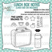 Image of Lunch Box Notes with Die (4x4) ~ Peachy