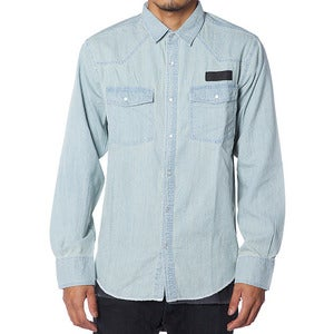 Image of WESTERN SHIRT | BLUE DENIM