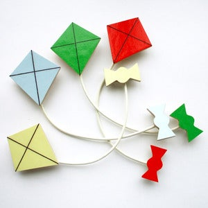 Image of Kite Brooch - 4 Colours to Choose From - Summer Set