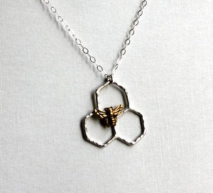 Image of Mini Honeycomb Necklace