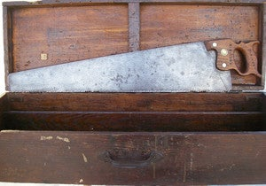 Image of Metropolitan Hardware handsaw split nut 28in 5.5 ppi 1890
