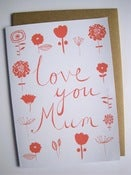 Image of LOVE YOU MUM card in coral