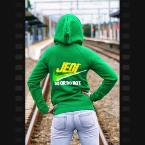 "Image of ""Brand Wars: Jedi"" - Kelly Green hoody in women's small ONLY"