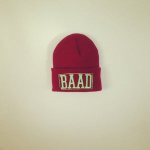 Image of BAAD beanie (Maroon) X Chloe Riley Collab.