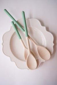 Image of  Wooden Spoons {Set of 3} Assorted Spring Colors