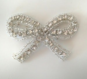 Image of Rhinestone Bow Pin