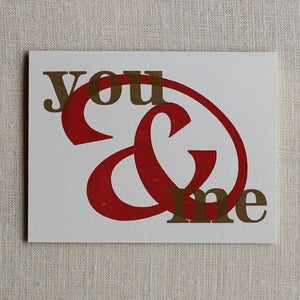 Image of Valentine's Card – You & Me