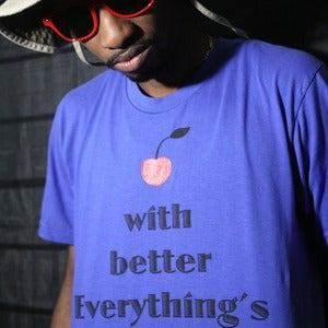 "Image of ""Everything's Better"" T-Shirt (royal blue)"
