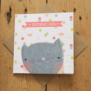 Image of Carnival Kids - Kitty 'Birthday Girl' Card
