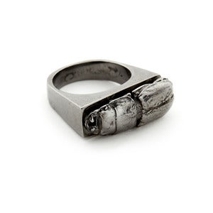 Image of Beetle Ring Black