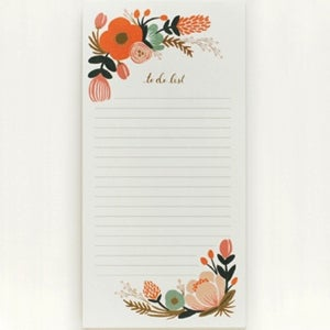 Image of Bloc de Notas - To do list floral