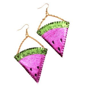 Image of Juicy Watermelon Earrings
