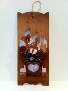 Image of VINTAGE DEER LETTER RACK