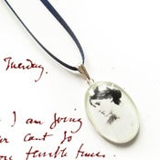 Image of Virginia Woolf Ribbon Necklace