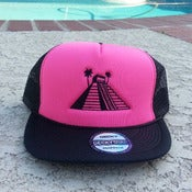 Image of Girls' Cancun Life Trucker Hat (Hat Pink)