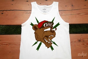 Image of Bear Fink Tank - White