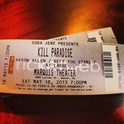 Image of 5/18/13 Concert Tickets