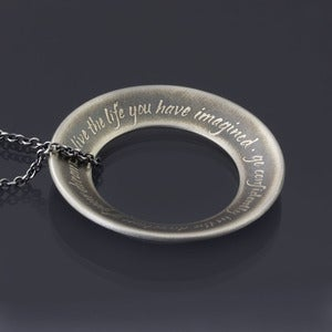 Image of Thoreau Open Circle Necklace - MADE TO ORDER