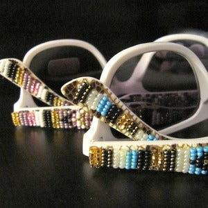 Image of Beaded Glitter Fab Sunglasses - Various