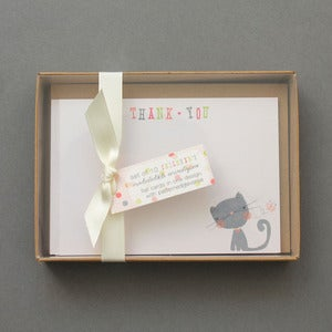 Image of Set Of 10 Child's 'Thank You' Boxed Notelets