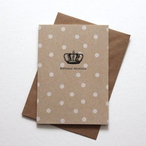 Image of Miniature Vintage - 'Birthday Princess'  Notecard