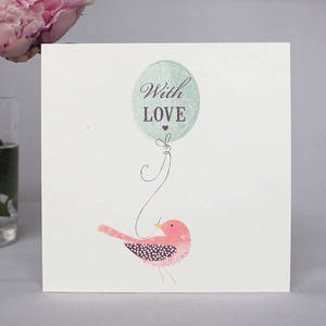 Image of Pack Of Six Bird And Balloon Notecards