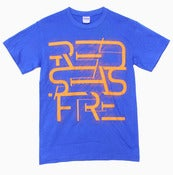 "Image of Blue + Orange ""Futuristic Logo"" T-Shirt"