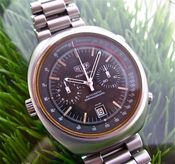 Image of VINTAGE TAG HEUER MONTREAL CHRONO STEEL w/BOX, PAPERS and EXTRA HEUER BRACELET - SOLD!