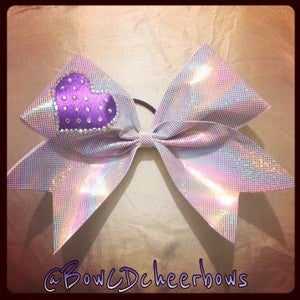Image of The Rainbow Shine Purple Sweetheart Bow