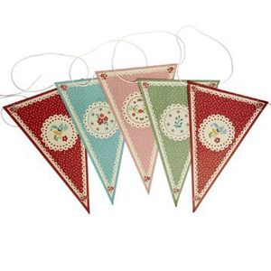 Image of Vintage Doily Bunting
