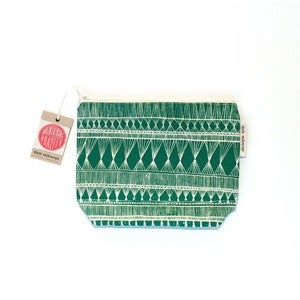 Image of Medium Dark Green Zippered Pouch
