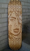 "Image of PaperMonster ""He's Here"" Laser Skate Deck (1 Available)"