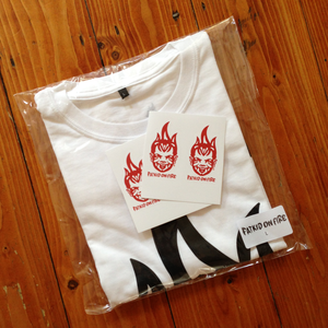 Image of FKOF tee (white) + stickers