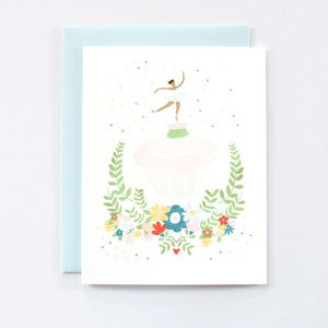 Image of Ballerina Cupcake - Single Card