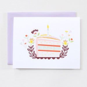 Image of Birthday Cake - Single Card