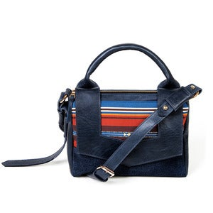 Image of Margot Bag - navy/earthy stripe