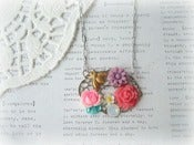 Image of Silver Bees and Things and Flowers Necklace