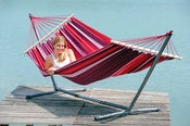Image of AMAZONAS Samba Fuego double weatherproof hammock with spreader bars