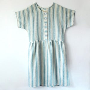 Image of Marguerite Dress No.2- Striped Washed Linen
