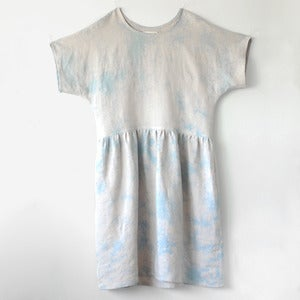 Image of Marguerite Dress No.3- Hand Dyed Linen/Rayon