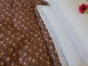 Image of Coco Chocolate Piped Edge Single Eiderdown