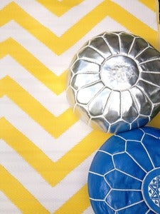 Image of Chevron Yellow Mat - Yellow