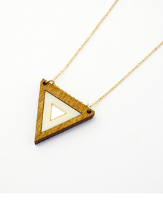 Inlaid Triangle Necklace 