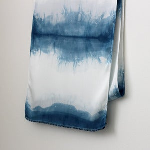 Image of Dip Dyed Indigo Bamboo Scarf
