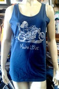 Image of Mucho Love rider navy blue tank top