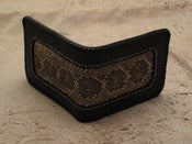 Image of natural snake skin inlay wallet