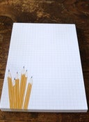 Image of Grid Notepad- Pencils